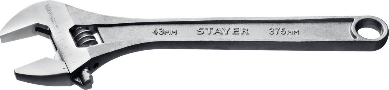 "Ключ разводной STAYER 375/43 мм, серия ""MAX-Force"" (2725-37)"
