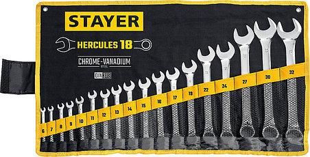 STAYER из 18 шт, 6 - 32 мм, набор комбинированных гаечных ключей HERCULES  (27081-H18_z01), фото 2