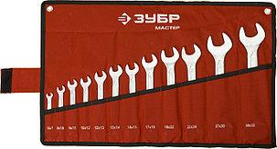 ЗУБР 12 шт., 6-32 мм, Cr-V сталь, хромированный, набор ключей гаечных рожковых (27010-H12), фото 2