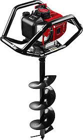 Мотобур (бензобур) ЗУБР, 60-250 мм, 52 см3, 2 оператора, со шнеком (МБ2-250 Н)