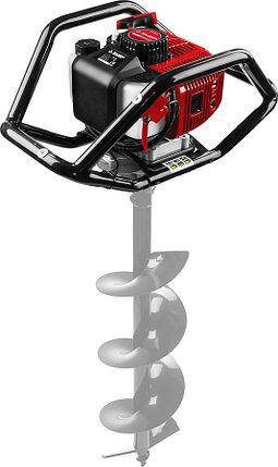 Мотобур (бензобур) ЗУБР, 60-250 мм, 52 см3, 2 оператора, без шнека (МБ2-250), фото 2