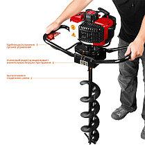 Мотобур (бензобур) ЗУБР, 60-150 мм, 43 см3, 1 оператор, без шнека (МБ1-150), фото 3