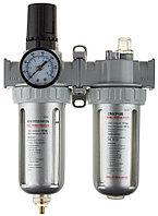 KRAFTOOL набор аксессуаров для пневмосистем, водоотделитель, манометр и смазчик (06505)