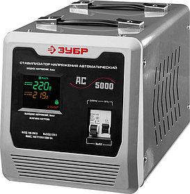 Релейный стабилизатор напряжения ЗУБР, 5 кВт, 220 В (59380-5)