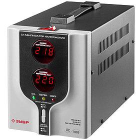 Профессиональный стабилизатор напряжения ЗУБР, АС 1000, 0.8 кВт, 220 В (59375-1)