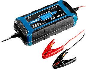 Интеллектуальное зарядное устройство ЗУБР, 12В, 8A, автомат (9 режимов заряда), IP65, серия Проф. (59303)