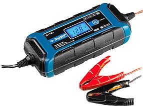 Интеллектуальное зарядное устройство ЗУБР, 6В/12В, 4A, автомат (9 режимов заряда), IP65, серия Проф.(59300)