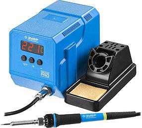 """Паяльная станция цифровая ЗУБР, низкотемпературная, 50-480°C, 60 Вт, жк дисплей, серия """"Профессионал"""" (55336)"""
