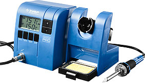"""Паяльная станция цифровая ЗУБР, 150-450°C, 48 Вт, жк дисплей, серия """"Профессионал"""" (55335)"""