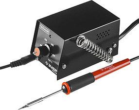 Мини-паяльная станция аналоговая ЗУБР, 100-450 °C, 8 Вт (55331)