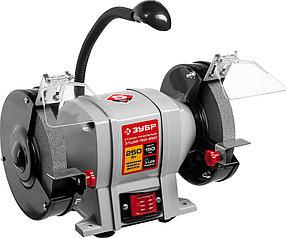 Станок точильный электрический ЗУБР, 250 Вт, асинхронный (ЗТШМ-150-250)
