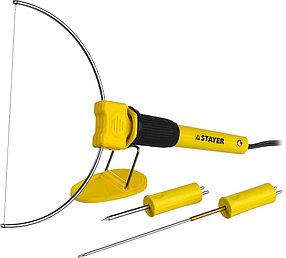 Прибор для художественной резки пенопласта, пластика Stayer, 3 насадки, 7 Вт, 220 В (45257-H3)