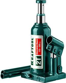 "Домкрат бутылочный  Kraftool, 2 т., 170-380 мм, серия ""Double ram"" (43463-2)"