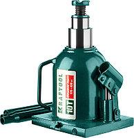 """Домкрат  гидравлический бутылочный сварной телескопический Kraftool, 10 т., 170-430 мм, серия """"Double ram"""" (43463-10)"""