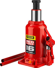 """Домкрат бутылочный  Stayer, 16 т., 230-460 мм, серия """"Red force"""" (43160-16_z01)"""