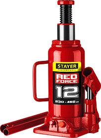 """Домкрат бутылочный  Stayer, 12 т., 230-465 мм, серия """"Red force"""" (43160-12_z01)"""