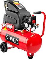 Компрессор электрический ЗУБР, 1500 Вт, 220 л/мин, 24 л, поршневой, масляный (ЗКПМ-220-24-1.5)