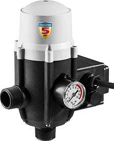 """Блок автоматики ЗБА, ЗУБР, 1"""", давление срабатывания 1.5 Атм, макс. мощность подключаем насосов 1.1 кВт (ЗБА)"""