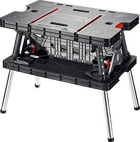 Верстак Keter 850 х 550 х 755 мм, максимальная нагрузка 450 кг, верстак столярный складной  (38730)