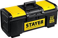 """Ящик для инструмента """"Toolbox-24"""" Stayer, 590*270*255 мм, пластиковый, серия """"Professional"""" (38167-24)"""