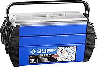"""Ящик для инструмента """"Дока"""" ЗУБР, 454*210*230 мм, (18""""), металлический, серия """"Профессионал"""" (38163-18)"""
