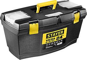 """Ящик для инструментов Stayer, 610*320*300 мм (24""""), пластиковый, серия """"Vega-21"""" (38105-21_z03)"""