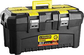 """Ящик для инструментов Stayer, 553*320*310 мм (22""""), пластиковый, серия """"Titan-22"""" (38016-22)"""