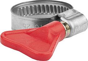"""Хомуты  ЗУБР, """"бабочка"""", 12-20 мм, накатная лента 9 мм (37835-12-20-200)"""