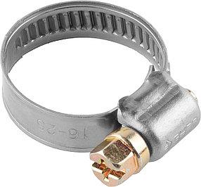 Хомуты ЗУБР, 8-14 мм, нержавеющая сталь, накатная лента 9 мм (37820-08-14-200)