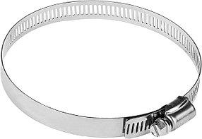 Хомуты ЗУБР, 91-114 мм, нержавеющая сталь, просечная лента 12,7 мм (37815-091-114-50)