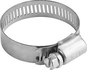Хомуты ЗУБР, 38-59, нержавеющая сталь, просечная лента 12,7 мм (37815-038-59-100)