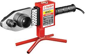 Сварочный аппарат для полипропиленовых труб ЗУБР, 800 Вт, муфтовый (раструбный), мечевидный (АСТ-800)