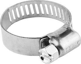 Хомуты ЗУБР, 13-26, нержавеющая сталь, просечная лента 8 мм (37811-13-26-200)