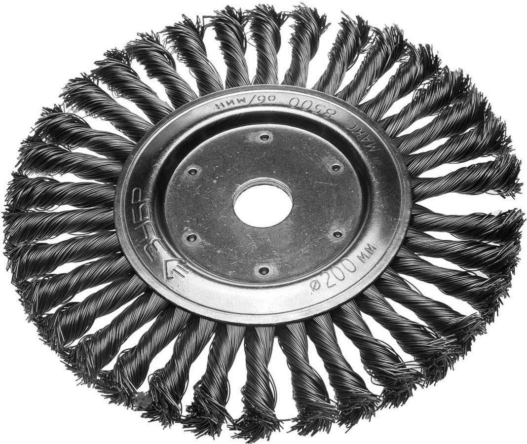 Щетка дисковая для УШМ ЗУБР, Ø 200 мм, проволока 0.5 мм (35190-200_z01)