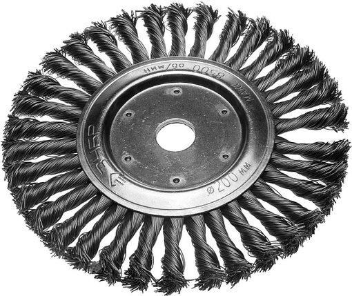 Щетка дисковая для УШМ ЗУБР, Ø 200 мм, проволока 0.5 мм (35190-200_z01), фото 2