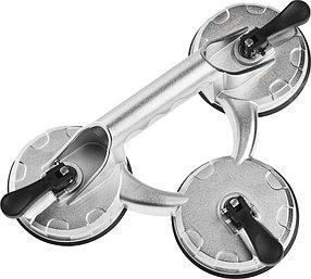 Стеклодомкрат ЗУБР, 140 кг, алюминиевый, профессиональный, тройной (33723-3)
