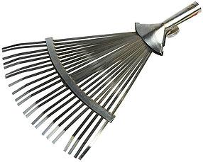 Грабли веерные регулируемые, Grinda, 320 - 420 мм, 22 плоских зубца (8-421875_z01)
