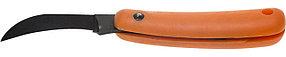 Нож садовый, 115 мм, лезвие высокоуглеродистая сталь, закалка, ручка пластиковая складная (0970)