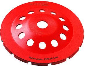 Чашка шлифовальная по бетону ЗУБР, 180 мм, L- 22.2 мм, алмазная, сегментная, двухрядная (33376-180), фото 2