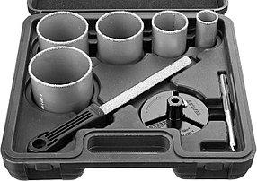Набор кольцевых коронок Stayer, 8 шт: d=33-53-67-73-83 мм, карбид-вольфрамовое нанесение (33345-H8)
