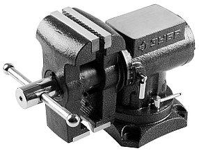 Тиски Зубр 125 мм,  слесарные многофункциональные с поворотом в двух плоскостях  (32712-125)