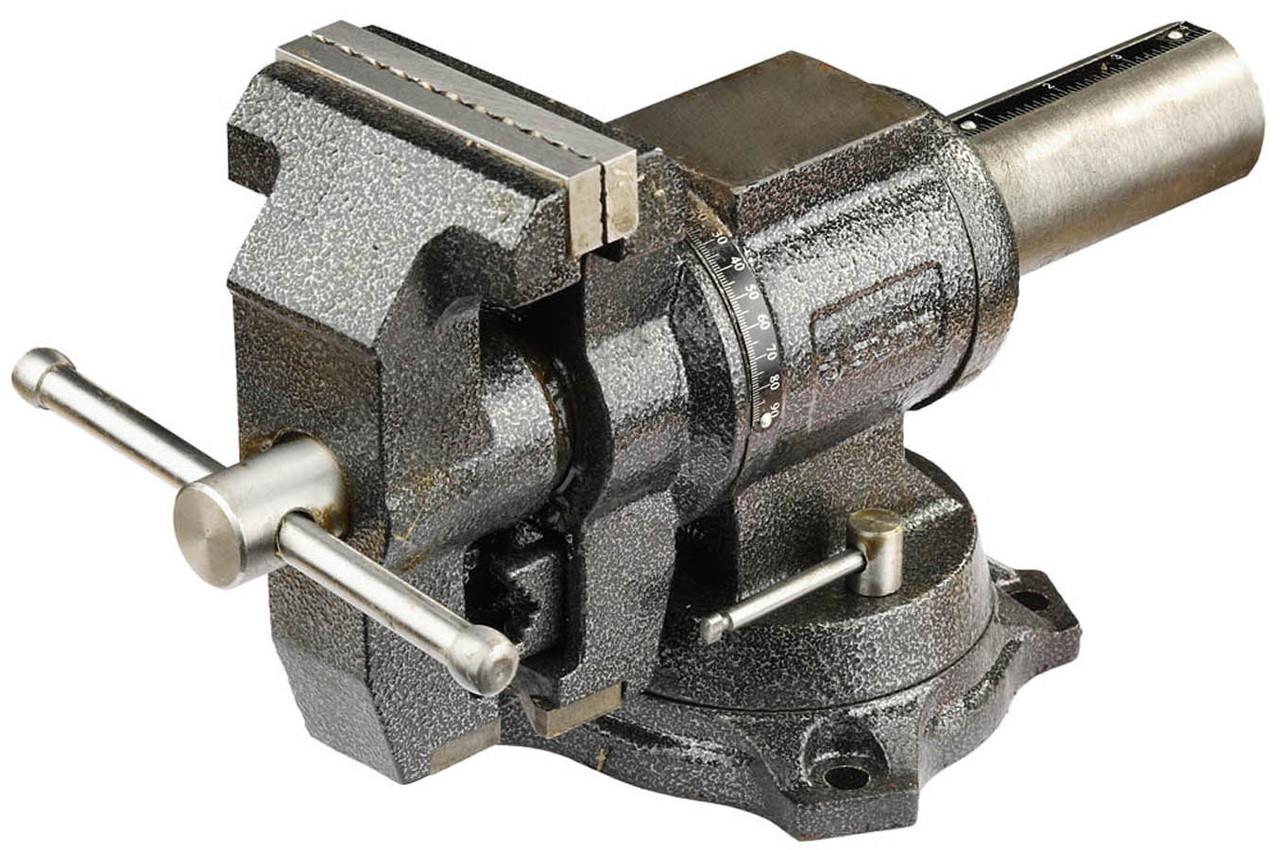 Тиски Зубр 100 мм,  слесарные многофункциональные с поворотом в двух плоскостях  (32712-100)