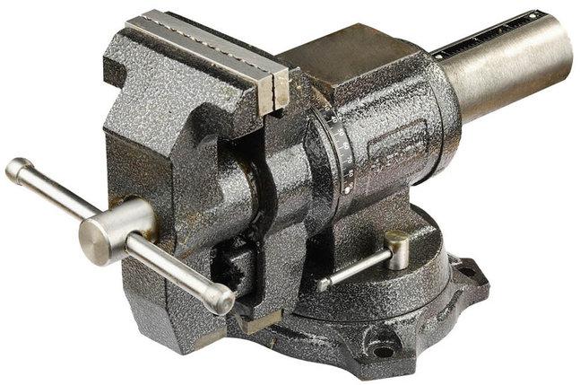 Тиски Зубр 100 мм,  слесарные многофункциональные с поворотом в двух плоскостях  (32712-100), фото 2