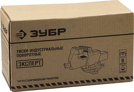 Тиски Зубр 200 мм,  индустриальные поворотные (32703-200), фото 2