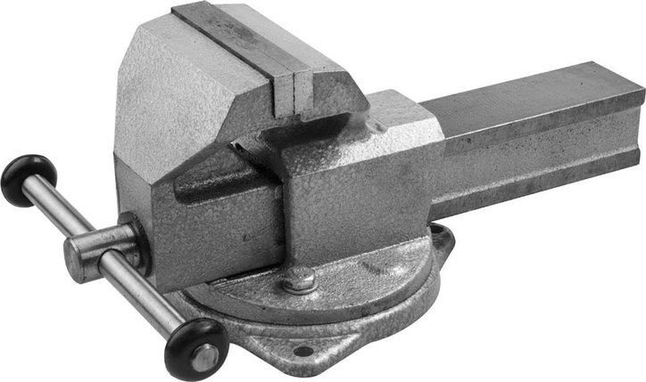 Тиски Зубр 140 мм,  слесарные с поворотным основанием  (32608-140), фото 2
