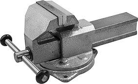 Тиски Зубр 125 мм,  слесарные с поворотным основанием (32606-125)