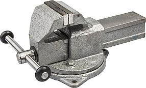 Тиски Зубр 100 мм,  слесарные с поворотным основанием  (32604-100)