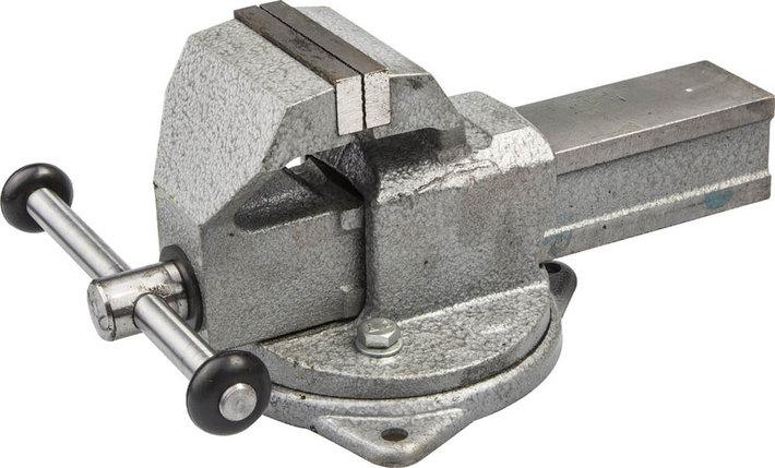 Тиски Зубр 100 мм,  слесарные с поворотным основанием  (32604-100), фото 2