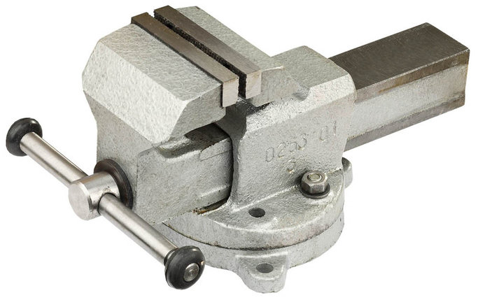 Тиски Зубр 80 мм,  слесарные с поворотным основанием  (32602-80), фото 2
