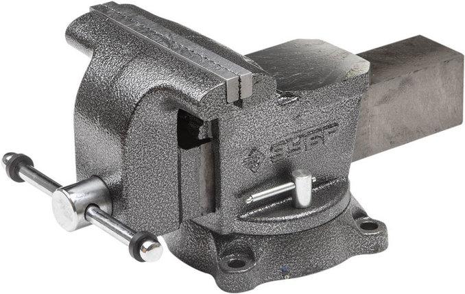Тиски Зубр 200 мм,  слесарные поворотные  (3258-200), фото 2